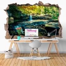 Vinili buco muro cascata natura 3d