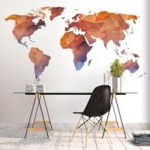 Vinili e adesivi mappa del mondo poligonale