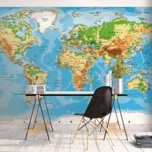 Murales in vinile per decorare mappa del mondo