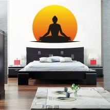 Vinile adesivo e autoadesivi silhouette di yoga