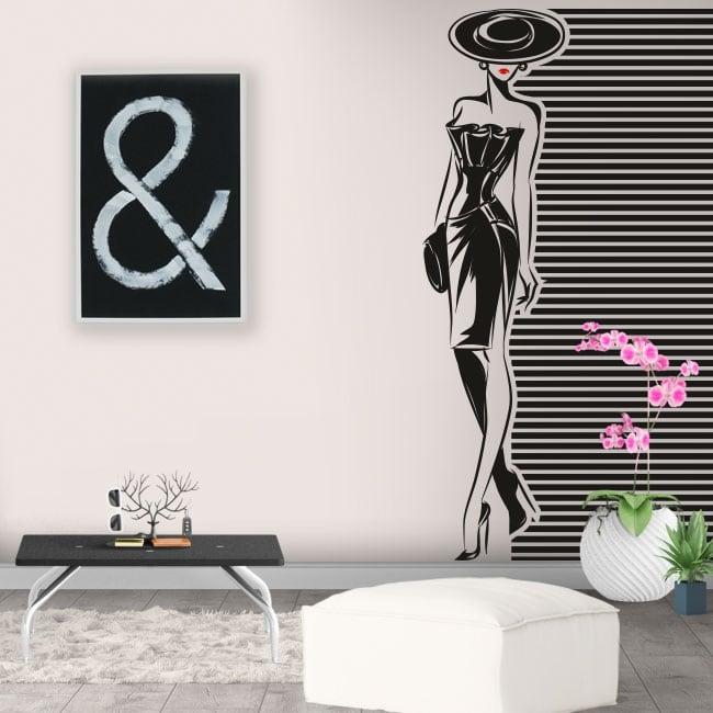 Vinili e adesivi da decorare silhouette di donna
