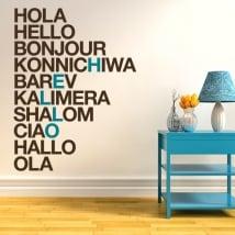 Vinili e adesivi ciao in diverse lingue