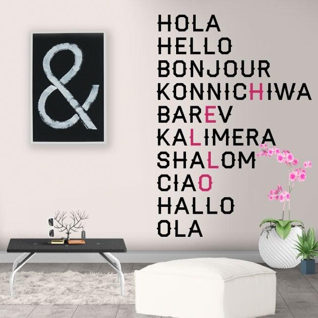 Vinile decorativo in varie lingue