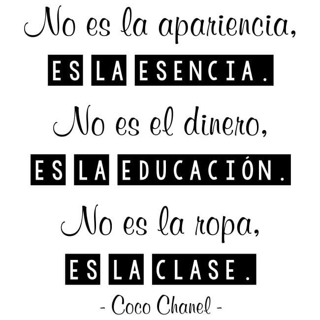 Vinili E Adesivi Frasi Di Coco Chanel