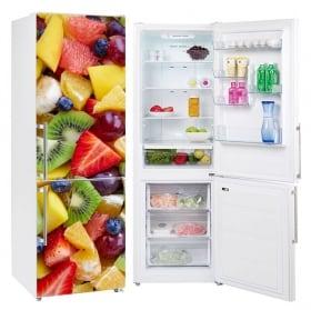 Vinile decorativo frutta frigoriferi e frigo
