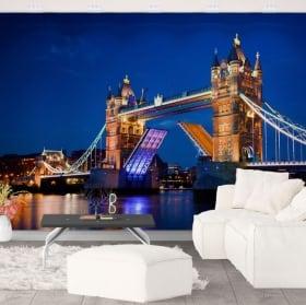 Murales vinile london tower bridge