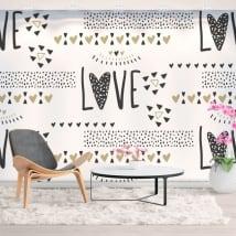 Murales di vinile amore