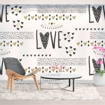 Murales in vinile amare i cuori