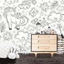 Murales in vinile unicorni