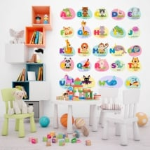 Vinili e adesivi per bambini animali l'alfabeto in inglese