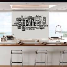 Vinile decorativo e adesivi tipi di caffè