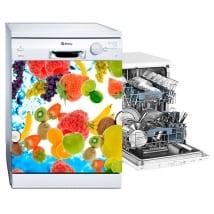 Vinili e adesivi frutta decorazione per lavastoviglie