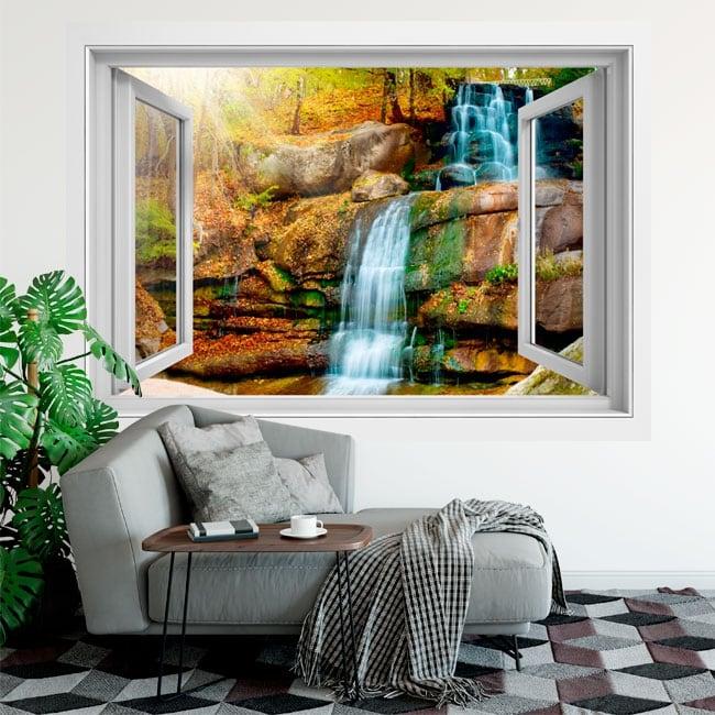 Vinili e adesivi finestra cascata 3d