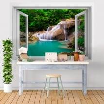 Vinili finestre cascata decorazione muri 3d