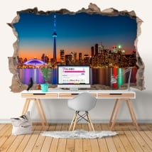 Vinili foro muro 3d canada colori del tramonto