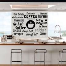 Sticker murale e adesivi frasi di caffè