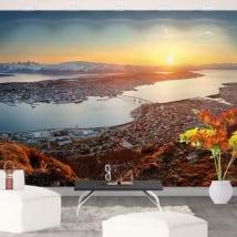 Murales in vinile tramonto in norvegia