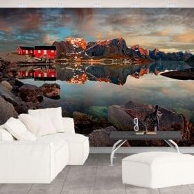 Colori di tramonto foto parete murales