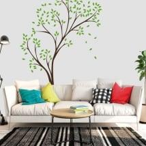 Vinile decorativo e adesivi albero con foglie