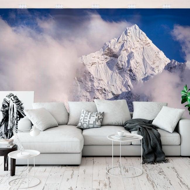 Murales in vinile vertice kangtega mountains himalayas nepal
