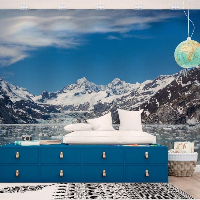 Murales parco nazionale di glacier bay in alaska
