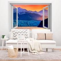 Vinili finestre tramonto nell'alaska 3d