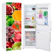 Vinili collage di frutta e verdura per frigoriferi