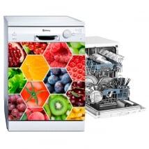 Vinili per lavastoviglie collage di frutta e verdura