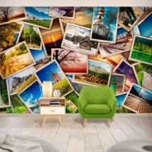 Murales in vinile collage di foto