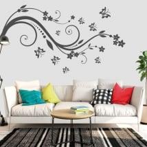 Vinile e adesivi fiori e farfalle da decorare