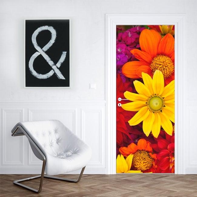 Vinili fiori per decorare porte e armadi