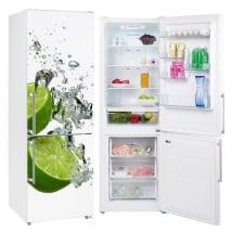 Vinile e adesivi decorare i frigoriferi limoni nell'acqua