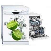 Vinile e adesivi decorare la lavastoviglie limoni nell'acqua
