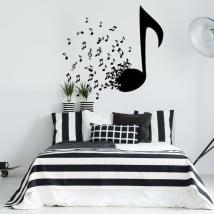 Vinile decorativo e adesivi note musicali