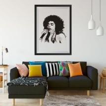 Vinili cantante jazz donna immagine incorniciata effetto 3d
