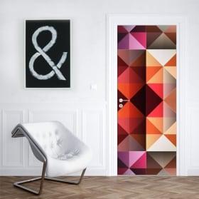 Vinili per porte e armadi colori triangoli