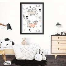 Vinili unicorni immagine incorniciata effetto 3d