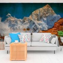 Gigantografie in vinile monte everest effetto muro rotto