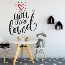 Vinile e adesivi frase inglese sei amato