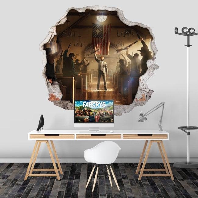 Vinili videogiochi far cry 5 buco muro 3d