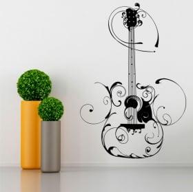 Vinile decorativo chitarra con filigranas