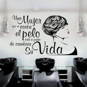 Vinile pareti silhouette femminile