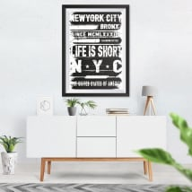 Vinile decorativo new york city immagine dell'effetto 3d
