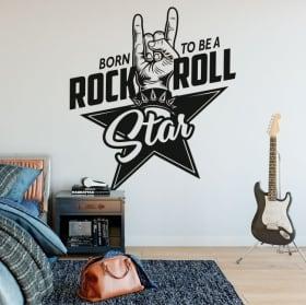 Vinile e adesivi rock and roll