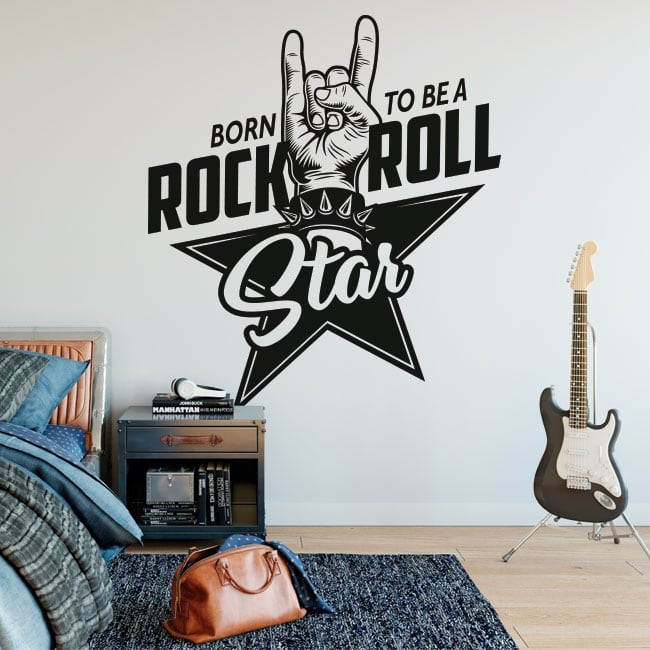 Sticker murale rock and roll
