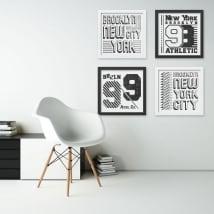 Vinile e adesivi new york immagine effetto 3d