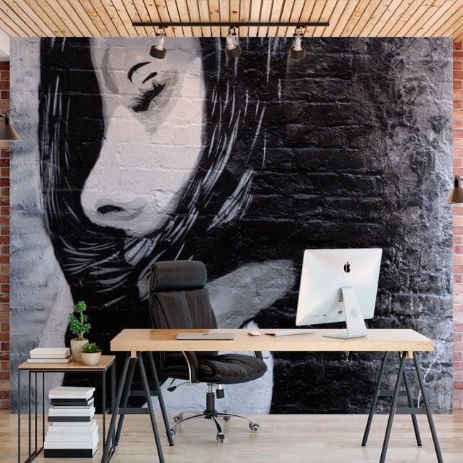 Murali in vinile adesivo graffiti urbani