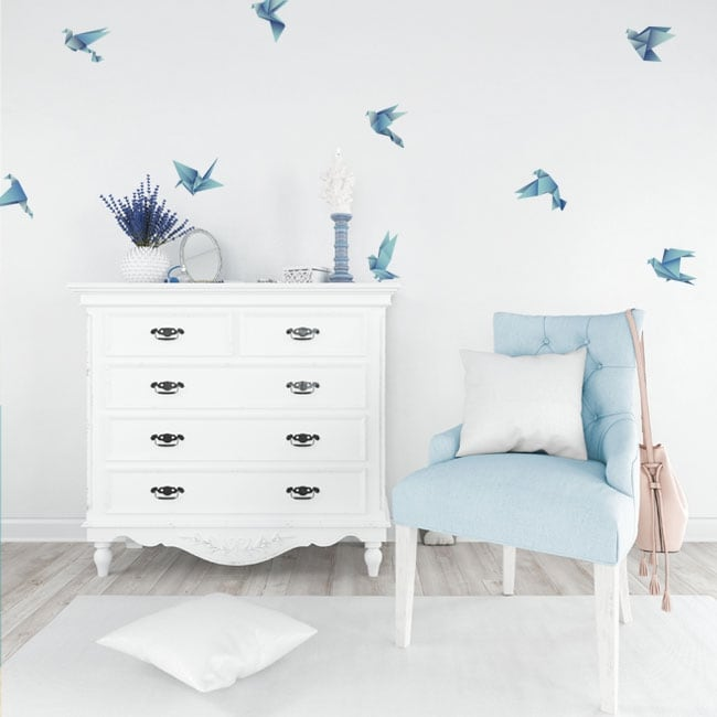 Sticker murale e adesivi uccelli origami