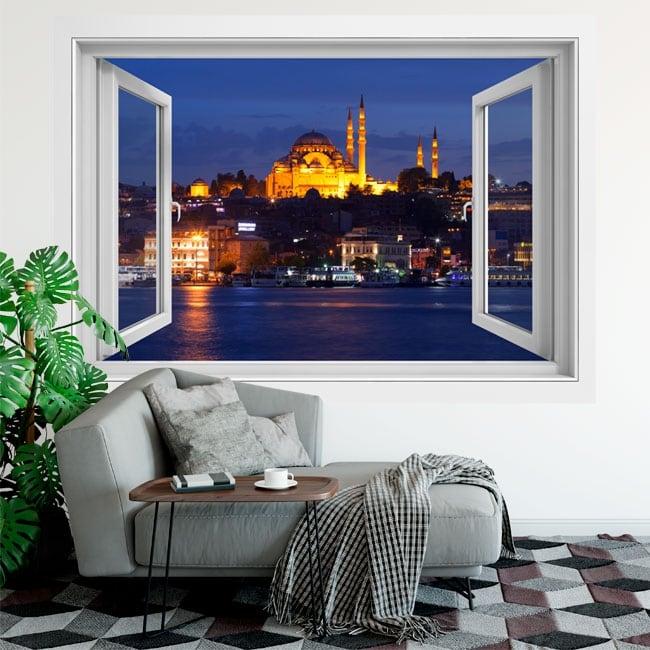 Vinili finestre istanbul moschea di suleiman 3d