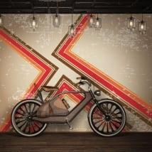 Murales in vinile con uno stile retrò da decorare